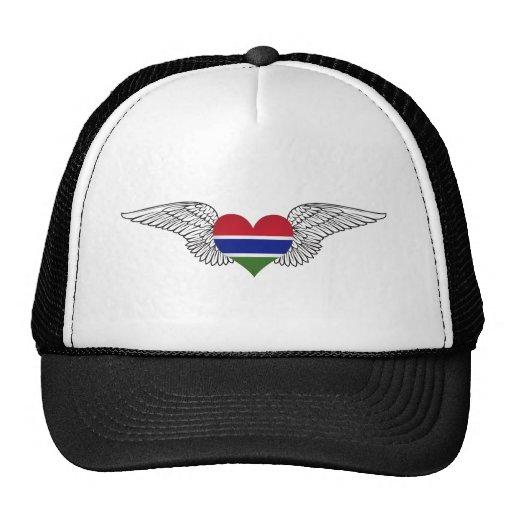 I Love Gambia -wings Mesh Hat