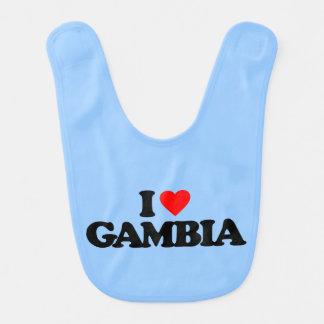 I LOVE GAMBIA BABY BIBS