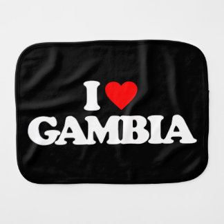 I LOVE GAMBIA BABY BURP CLOTHS