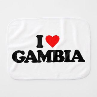I LOVE GAMBIA BABY BURP CLOTH