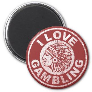 I Love Gambling 6 Cm Round Magnet
