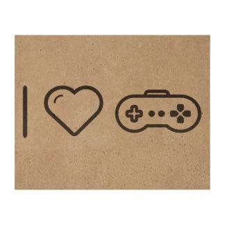 I Love Game Controllers Cork Paper Prints