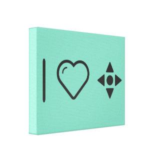 I Love Game Controls Canvas Print