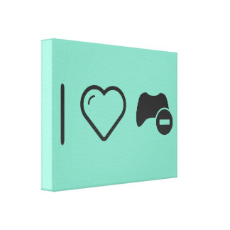 I Love Game Controls Gallery Wrap Canvas