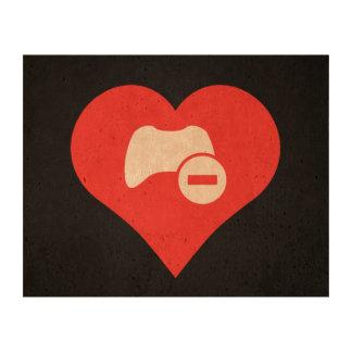 I Love Game Controls Cool Icon Cork Paper Print