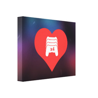 I Love Game Controls Cool Symbol Gallery Wrap Canvas