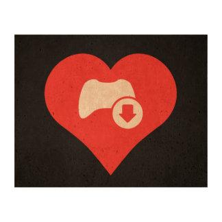 I Love Game Controls Modern Cork Paper Prints