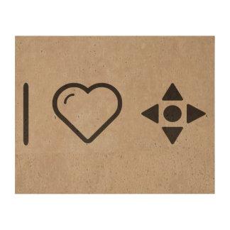 I Love Game Controls Cork Paper Print
