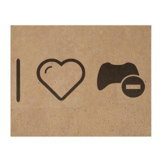 I Love Game Controls Photo Cork Paper