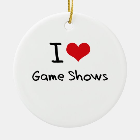 I Love Game Shows Christmas Ornament