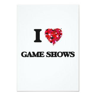 I Love Game Shows 13 Cm X 18 Cm Invitation Card