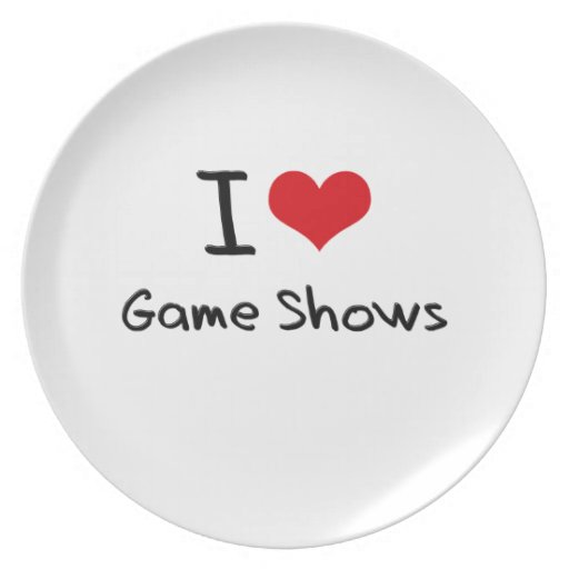 I Love Game Shows Plate