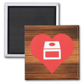 I Love gamecube Square Magnet