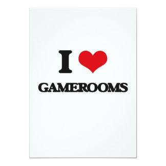 I love Gamerooms 13 Cm X 18 Cm Invitation Card