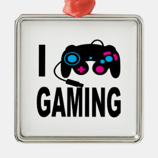 I Love Gaming Christmas Ornament