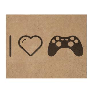 I Love Gaming Controls Cork Paper