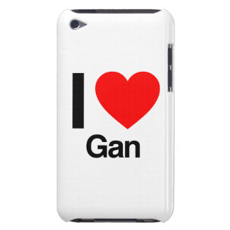 i love gan iPod touch case