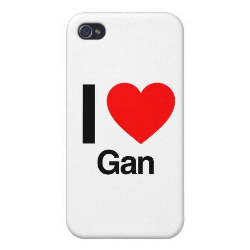 i love gan iPhone 4 covers