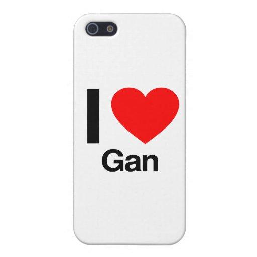 i love gan iPhone 5/5S covers