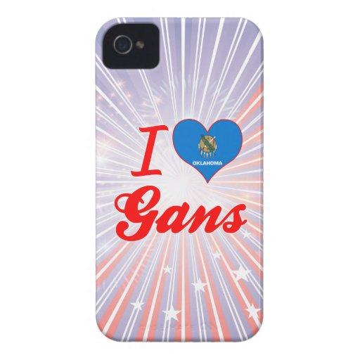 I Love Gans, Oklahoma iPhone 4 Cases