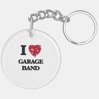 I love Garage Band Double-Sided Round Acrylic Key Ring