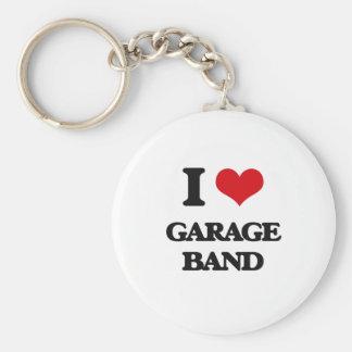 I love Garage Band Basic Round Button Keychain