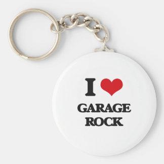 I Love GARAGE ROCK Key Chain