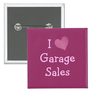 I Love Garage Sales 15 Cm Square Badge
