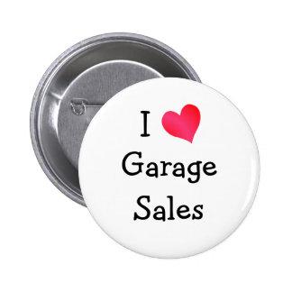 I Love Garage Sales Pinback Buttons