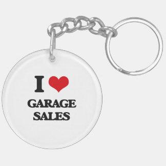 I love Garage Sales Acrylic Keychains