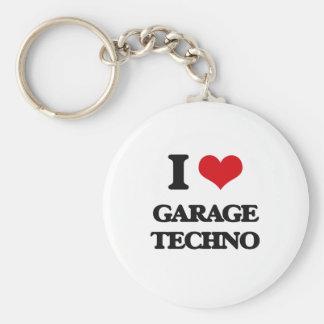 I Love GARAGE TECHNO Keychains