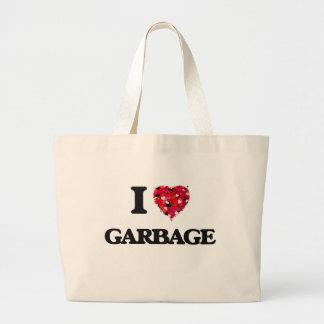 I Love Garbage Jumbo Tote Bag