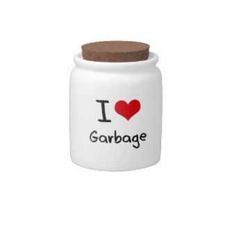 I Love Garbage Candy Jars