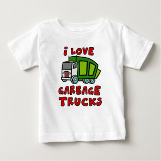 I LOVE GARBAGE TRUCKS!! Garbage Trucks for Kids!! Baby T-Shirt