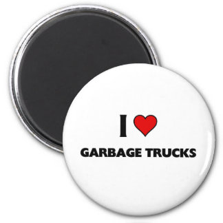 I love garbage trucks magnet
