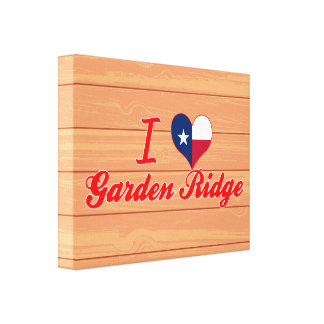 I Love Garden Ridge, Texas Stretched Canvas Prints