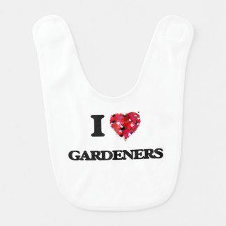 I Love Gardeners Bibs
