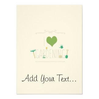 I love gardening 14 cm x 19 cm invitation card