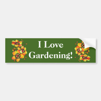 I love Gardening - Exotic Flowers Bumper Sticker
