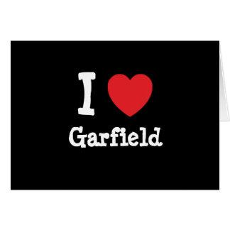 I love Garfield heart custom personalized Card