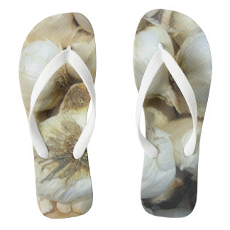 I love Garlic Custom Adult, Wide Straps Flip Flops