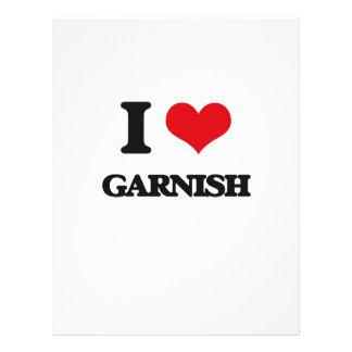 I love Garnish 21.5 Cm X 28 Cm Flyer