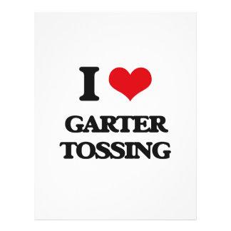 I love Garter Tossing Flyer Design