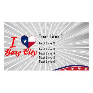 I Love Gary+City Texas Business Card Template