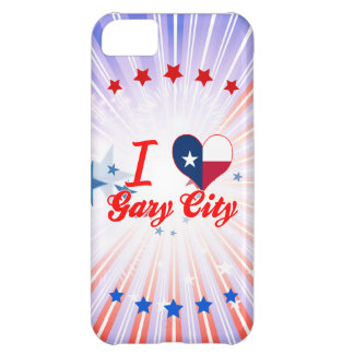 I Love Gary+City, Texas Cover For iPhone 5C