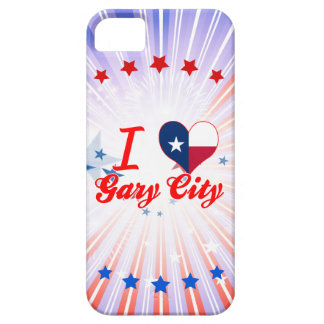 I Love Gary+City, Texas iPhone 5 Cover