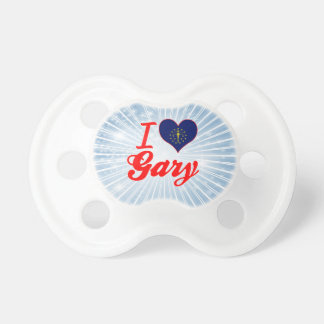 I Love Gary Indiana Baby Pacifiers