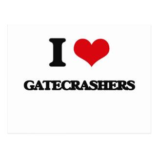I love Gatecrashers Postcards