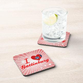 I Love Gatlinburg Tennessee Beverage Coasters