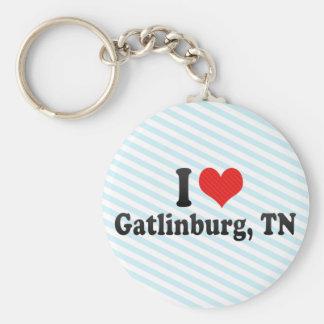 I Love Gatlinburg, TN Basic Round Button Key Ring